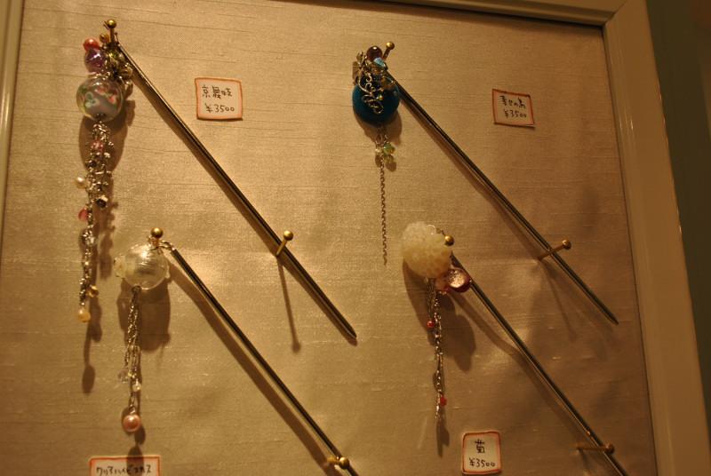 昔見た京都のかんざし屋さん(撮影の許可はとりました)